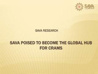 SAVA Poised To Become The Global Hub For CRAMs