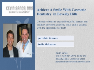Achieve A Smile With Cosmetic Dentistry in Beverly Hills