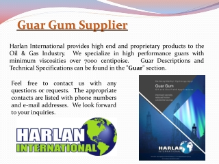 Guar Gum Supplier