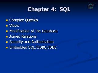 Chapter 4:  SQL