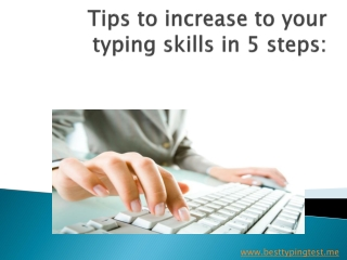tips to increase typing speed