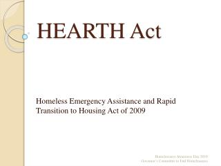 HEARTH Act