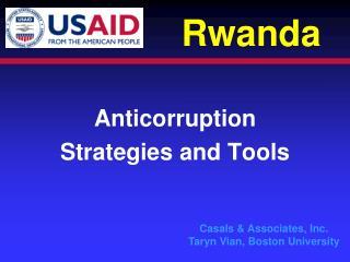 Anticorruption Strategies and Tools