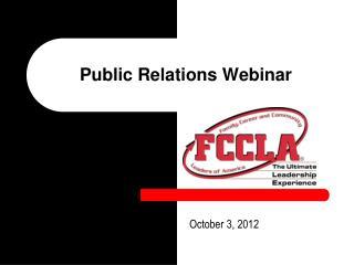 Public Relations Webinar