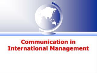 Communication in International Management