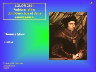 LGLOR 2501 Auteurs latins du moyen  ge et de la renaissance