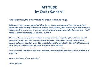 ATTITUDE by Chuck Swindoll