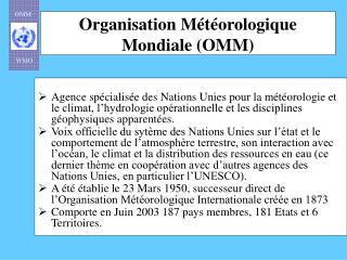 Organisation M t orologique Mondiale OMM