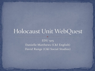 Holocaust Unit