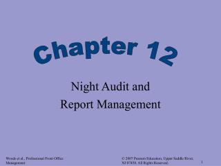 Night Audit and  Report Management