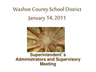 Washoe County School District January 14, 2011