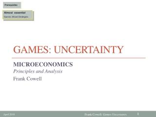 Games: Uncertainty