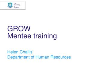 GROW Mentee training