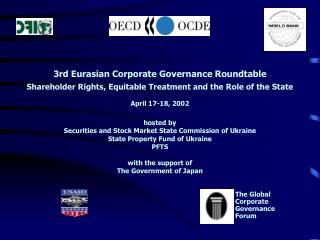 3rd Eurasian Corporate Governance Roundtable Shareholder Rights, Equitable Treatment and the Role of the State   April 1