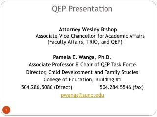 QEP Presentation