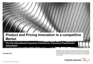 Product and Pricing Innovation in a competitive Market