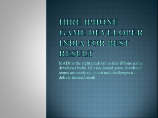 Hire iPhone Game Developer for any iPhone game development