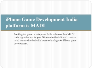 iPhone Game Developer  India