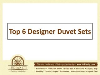 Top 6 designer duvet sets