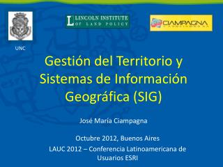 Gesti n del Territorio y Sistemas de Informaci n Geogr fica SIG