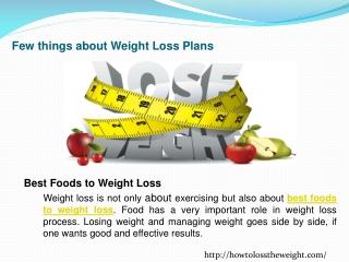 Best diet to weight loss
