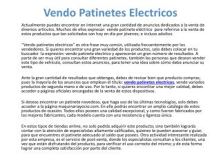 vendo patinetes electricos