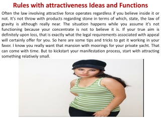 Rules with attractiveness Ideas and Functions
