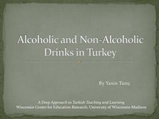 alcoholic and non-alcoholic drinks in turkey