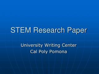 STEM Research Paper