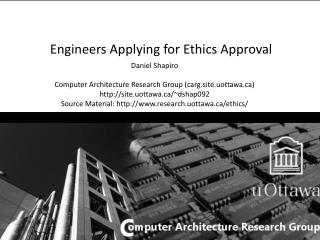 Engineers Applying for Ethics Approval