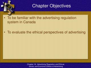 Advertising Regulation and Ethical, Social, and Economic Effects of Advertising