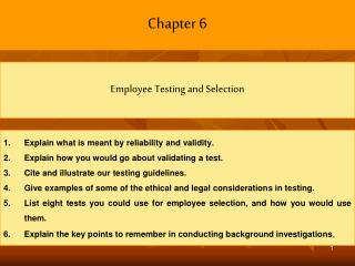 Explain what is meant by reliability and validity. Explain how you would go about validating a test. Cite and illustrate