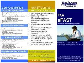 FAA eFAST Electronic FAA Accelerated and Simplified Tasks