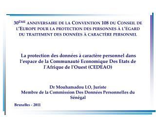 30 me anniversaire de la Convention 108 du Conseil de l Europe pour la protection des personnes   l  gard du traitement