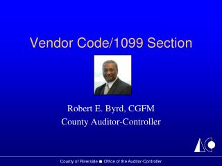 Vender Code - 1099 Presentation