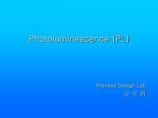Photoluminescence PL