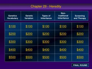 Chapter 29 - Heredity