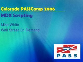MDX Scripting