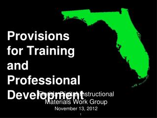 Provisions for Training and Professional Development