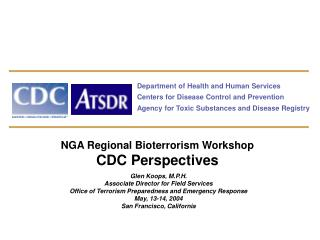 Department of Health and Human Services Centers for Disease Control and Prevention Agency for Toxic Substances and Disea