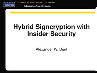 Hybrid Signcryption with Insider Security