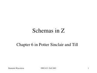 Schemas in Z