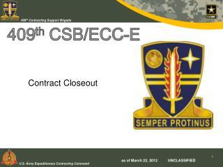 409th CSB