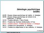 S miologie psychiatrique DCEM1