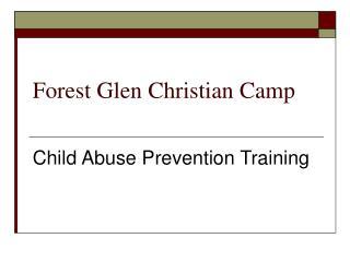forest glen christian camp