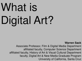 What is  Digital Art