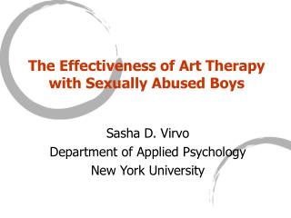 the effectiveness of art therapy with sexually abused boys