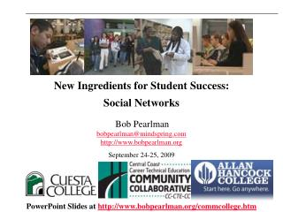 New Ingredients for Student Success:  Social Networks