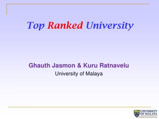 Top Ranked University