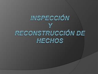 INSPECCI N  Y  RECONSTRUCCI N DE HECHOS